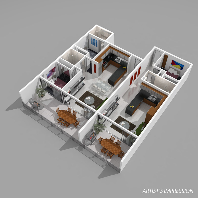 Thepropagandamill 3d floorplans Home plan 3d